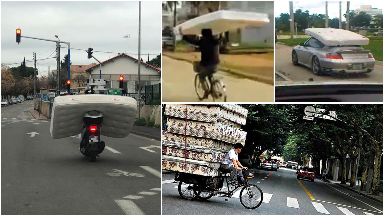 Les pires moyens de transport d'un matelas